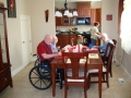 Residents at dining table
